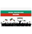Cheering or Protesting Crowd Bulgaria vector image vector image