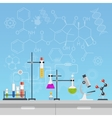 Chemical laboratory science and technology flat vector image