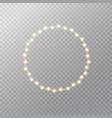 christmas lights wreath glowing gold xmas garland vector image vector image