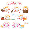 Clock Character Hurry Up and Running vector image