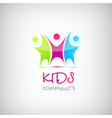 colorful kids logo children vector image