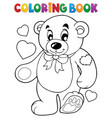 coloring book teddy bear theme 1 vector image vector image