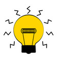conceptual lightbulb icon with a brain vector image vector image