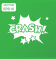 crash comic sound effects icon business concept vector image vector image
