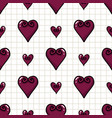 cute hearts seamless pattern hand drawn vector image vector image
