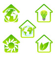 eco house set vector image vector image