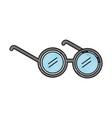 Elderly glasses isolated icon vector image