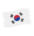 flag of south corea grunge abstract brush stroke vector image