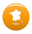 france map in black simple vector image vector image