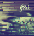 glitch effect background with distortion vector image vector image