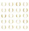 gold laurel wreath - a symbol of the winner vector image vector image
