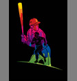 group baseball players action cartoon sport vector image vector image