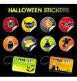halloween stickers vector image vector image