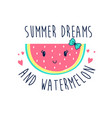hand drawing watermelon vector image vector image
