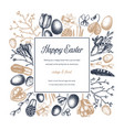 happy easter day design spring banner greeting vector image vector image