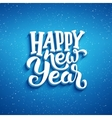 Happy New Year greeting card design vector image vector image