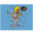 hipster parrot cartoon t shirt design vector image vector image