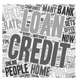 Home Loan For People With Bad Credit text vector image vector image