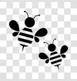 honey bee icon vector image vector image