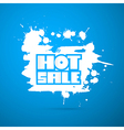 Hot Sale Title on Blue Background - Winter Sale vector image vector image