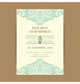 invitation card with vintage blue elem vector image vector image