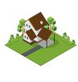 Isometric Big House 380 vector image