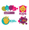 kids place with entertainments bright promotional vector image vector image