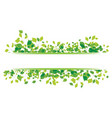 leaf background design vector image vector image