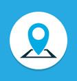 location icon colored symbol premium quality vector image
