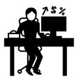 man office accounting icon simple style vector image