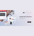 marketing strategy concept workplace desk office vector image vector image