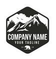 mountain venture logo design template vector image vector image