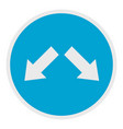 moving in arrow icon flat style vector image vector image