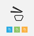 of cook symbol on sushi vector image