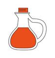 oil glass bottle vector image