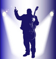 old rocker on stage vector image vector image