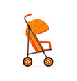 orange baby carriage safe handle transportation vector image