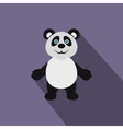 Panda bear icon flat style vector image