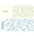 pattern with construction tools icons - tools kit vector image vector image