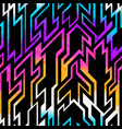 rainbow space geometric pattern with grunge effect vector image