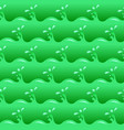seamless green poisoned water waves and drops vector image