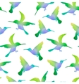 Seamless Nature Background with Hummingbirds vector image vector image