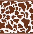 seamless texture cow spots trendy vector image