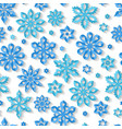 seamless winter snowflake pattern vector image vector image