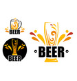 set logo beer shop vector image vector image
