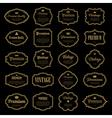 set vintage gold frame vector image vector image