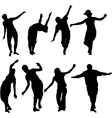 silhouettes of active people vector image vector image