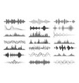 sound wave charts vector image vector image