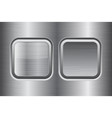 square buttons metal brushed texture vector image vector image