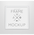 template of square frame with poster vector image vector image